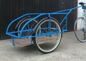 Nagy biciklis utánfutó