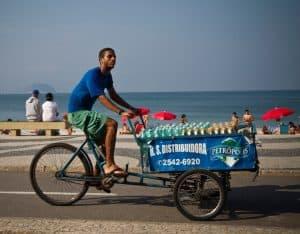 Copacabana, a világ legsűrűbbeb teherbiciklizett környéke